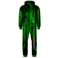 Spooky Forest With Illuminated Trees Hooded Jumpsuit (men)