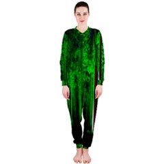 Spooky Forest With Illuminated Trees Onepiece Jumpsuit (ladies)