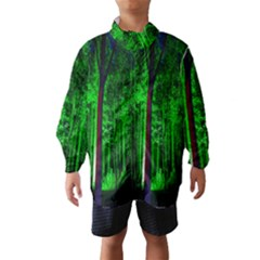 Spooky Forest With Illuminated Trees Wind Breaker (Kids)