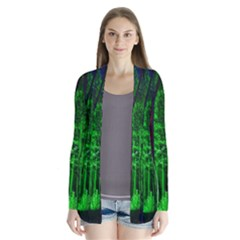 Spooky Forest With Illuminated Trees Cardigans