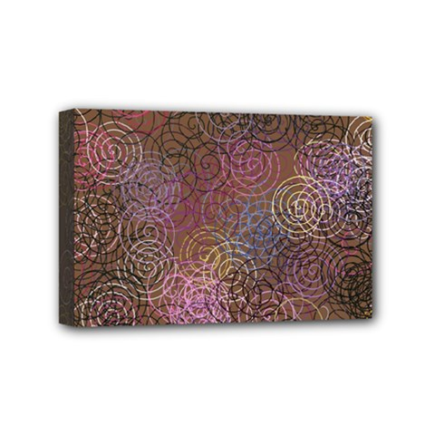 2000 Spirals Many Colorful Spirals Mini Canvas 6  x 4