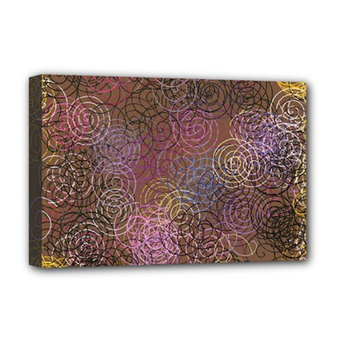 2000 Spirals Many Colorful Spirals Deluxe Canvas 18  x 12