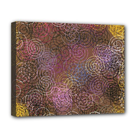 2000 Spirals Many Colorful Spirals Deluxe Canvas 20  X 16
