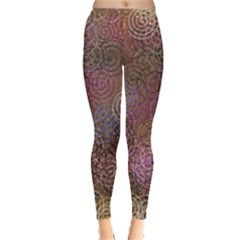 2000 Spirals Many Colorful Spirals Leggings