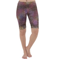 2000 Spirals Many Colorful Spirals Cropped Leggings