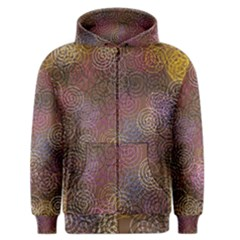 2000 Spirals Many Colorful Spirals Men s Zipper Hoodie