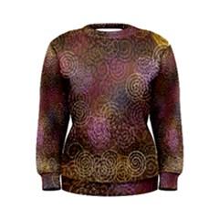 2000 Spirals Many Colorful Spirals Women s Sweatshirt