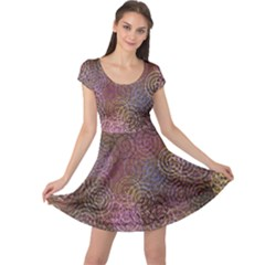 2000 Spirals Many Colorful Spirals Cap Sleeve Dresses