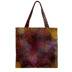 2000 Spirals Many Colorful Spirals Zipper Grocery Tote Bag