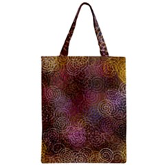 2000 Spirals Many Colorful Spirals Zipper Classic Tote Bag