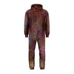 2000 Spirals Many Colorful Spirals Hooded Jumpsuit (Kids)