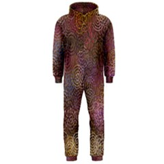 2000 Spirals Many Colorful Spirals Hooded Jumpsuit (men)