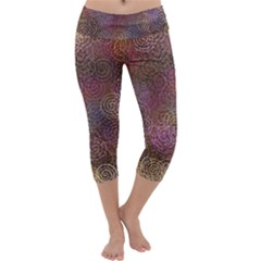2000 Spirals Many Colorful Spirals Capri Yoga Leggings
