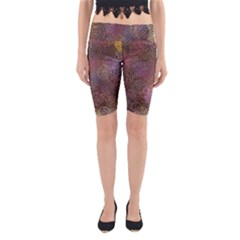 2000 Spirals Many Colorful Spirals Yoga Cropped Leggings