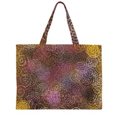 2000 Spirals Many Colorful Spirals Zipper Large Tote Bag