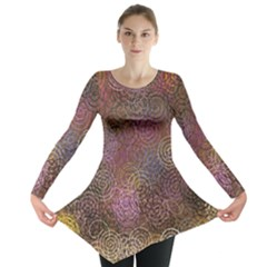 2000 Spirals Many Colorful Spirals Long Sleeve Tunic