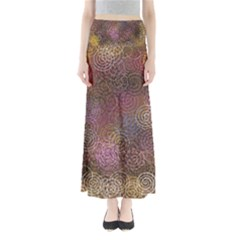 2000 Spirals Many Colorful Spirals Maxi Skirts