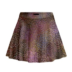 2000 Spirals Many Colorful Spirals Mini Flare Skirt