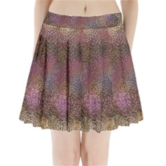2000 Spirals Many Colorful Spirals Pleated Mini Skirt