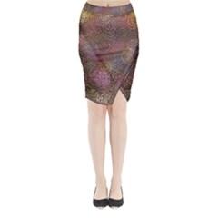 2000 Spirals Many Colorful Spirals Midi Wrap Pencil Skirt