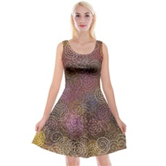 2000 Spirals Many Colorful Spirals Reversible Velvet Sleeveless Dress