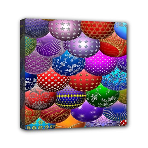Fun Balls Pattern Colorful And Ornamental Balls Pattern Background Mini Canvas 6  x 6