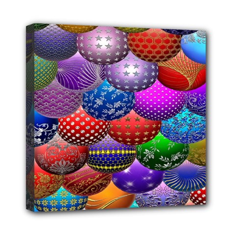 Fun Balls Pattern Colorful And Ornamental Balls Pattern Background Mini Canvas 8  x 8