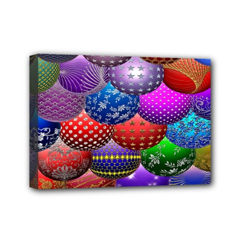 Fun Balls Pattern Colorful And Ornamental Balls Pattern Background Mini Canvas 7  x 5