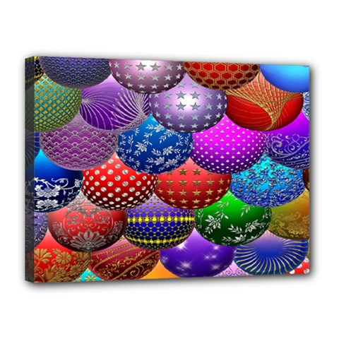 Fun Balls Pattern Colorful And Ornamental Balls Pattern Background Canvas 16  x 12