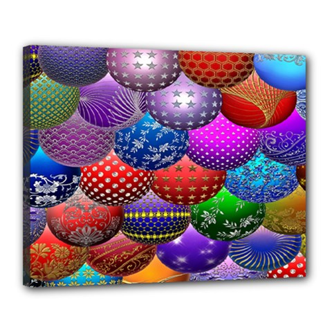 Fun Balls Pattern Colorful And Ornamental Balls Pattern Background Canvas 20  X 16