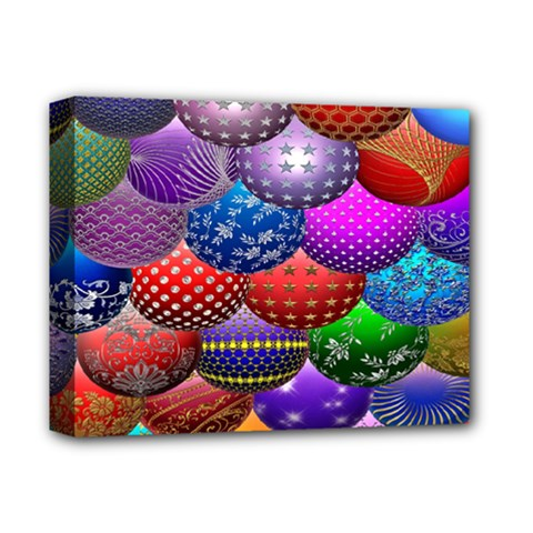 Fun Balls Pattern Colorful And Ornamental Balls Pattern Background Deluxe Canvas 14  X 11