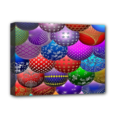 Fun Balls Pattern Colorful And Ornamental Balls Pattern Background Deluxe Canvas 16  x 12