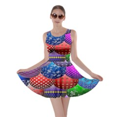 Fun Balls Pattern Colorful And Ornamental Balls Pattern Background Skater Dress