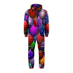 Fun Balls Pattern Colorful And Ornamental Balls Pattern Background Hooded Jumpsuit (Kids)