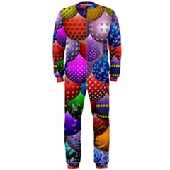 Fun Balls Pattern Colorful And Ornamental Balls Pattern Background OnePiece Jumpsuit (Men)