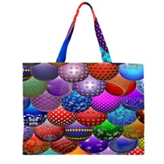 Fun Balls Pattern Colorful And Ornamental Balls Pattern Background Large Tote Bag