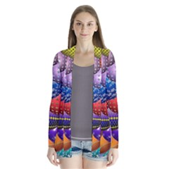 Fun Balls Pattern Colorful And Ornamental Balls Pattern Background Cardigans