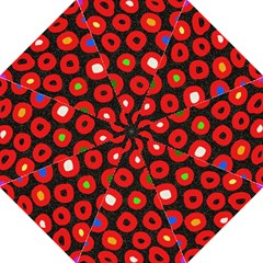 Polka Dot Texture Digitally Created Abstract Polka Dot Design Hook Handle Umbrellas (Large)