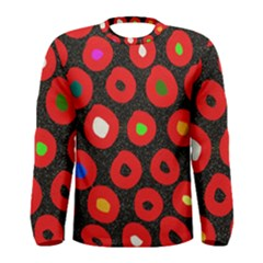 Polka Dot Texture Digitally Created Abstract Polka Dot Design Men s Long Sleeve Tee