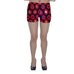 Polka Dot Texture Digitally Created Abstract Polka Dot Design Skinny Shorts