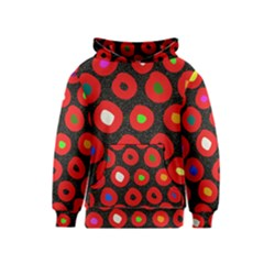 Polka Dot Texture Digitally Created Abstract Polka Dot Design Kids  Pullover Hoodie