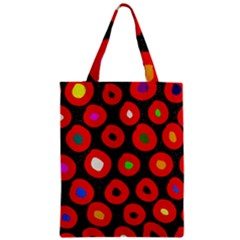 Polka Dot Texture Digitally Created Abstract Polka Dot Design Zipper Classic Tote Bag