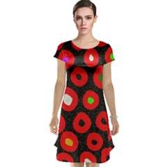 Polka Dot Texture Digitally Created Abstract Polka Dot Design Cap Sleeve Nightdress