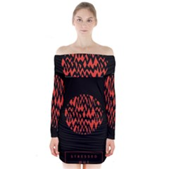 Albums By Twenty One Pilots Stressed Out Long Sleeve Off Shoulder Dress