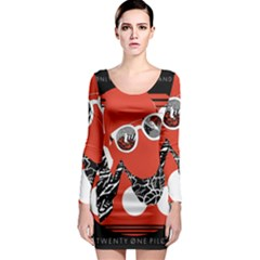 Twenty One Pilots Poster Contest Entry Long Sleeve Bodycon Dress