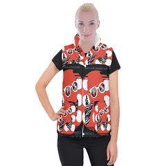 Twenty One Pilots Poster Contest Entry Women s Button Up Puffer Vest