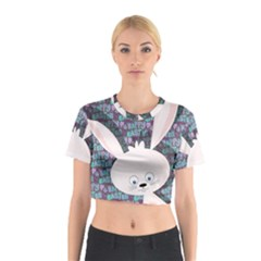Easter bunny  Cotton Crop Top