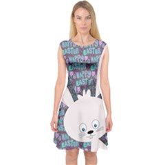 Easter bunny  Capsleeve Midi Dress