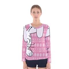 Easter Bunny  Women s Long Sleeve Tee