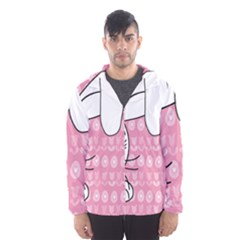 Easter bunny  Hooded Wind Breaker (Men)